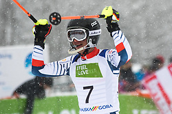 Civade Thomas of Austria during Slalom race at 2019 World Para Alpine Skiing Championship, on January 23, 2019 in Kranjska Gora, Slovenia. Photo by Matic Ritonja / Sportida