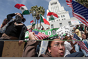 During the student walkout Alexandra Cruz shows her disdain for the proposed immigration laws in Congress when approximately fifteen thousand students protested on the steps of City Hall in Los Angeles, Ca. Monday, March, 27, 2006...(Front Page L.A. Sentinel 4/30/06)