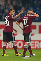 19.11.2011, Veltins Arena, Gelsenkirchen, GER, 1. FBL, FC Schalke 04 vs 1. FC Nuernberg, im Bild Timothy Chandler (#26 Nuernberg), Mike Frantz (#17 Nuernberg) nach der Niederlage // during FC Schalke 04 vs. 1. FC Nuernberg at Veltins Arena, Gelsenkirchen, GER, 2011-11-19. EXPA Pictures © 2011, PhotoCredit: EXPA/ nph/ Kurth..***** ATTENTION - OUT OF GER, CRO *****