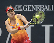 Belinda Bencic (SUI) on Day Three of the WTA Generali Ladies Linz Open at TipsArena, Linz<br /> Picture by EXPA Pictures/Focus Images Ltd 07814482222<br /> 12/10/2016<br /> *** UK & IRELAND ONLY ***<br /> <br /> EXPA-REI-161012-5023.jpg