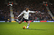 Fulham defender Ashley (Jazz) Richards crossing the ball during the Sky Bet Championship match between Fulham and Sheffield Wednesday at Craven Cottage, London, England on 2 January 2016. Photo by Matthew Redman.