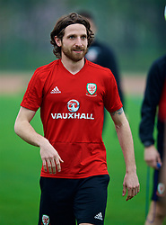 NANNING, CHINA - Sunday, March 25, 2018: Wales' Joe Allen during a training session at the Guangxi Sports Centre ahead of the 2018 Gree China Cup International Football Championship final match against Uruguay. (Pic by David Rawcliffe/Propaganda)