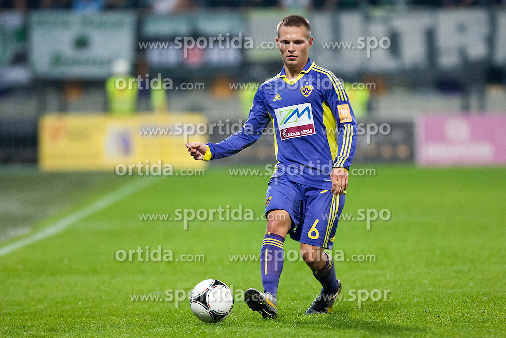 Martin Milec of NK Maribor during football match between NK Maribor and NK Olimpija Ljubljana in 14th Round of Slovenian First League PrvaLiga NZS 2012/31 on October 20, 2012 in Stadium Ljudski vrt, Maribor, Slovenia. (Photo By Gregor Krajncic / Sportida)