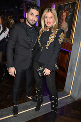 Musician HOSSEIN TOHI and HOFIT GOLAN at the launch of MNKY HSE Restaurant, 10 Dover Street, London on 19th October 2016.