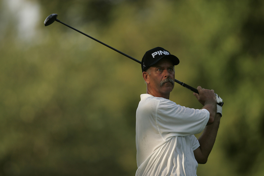 Mark James..2004 United States Senior Open.Third Round.Bellerive Country Club.St. Louis MO.Sunday, August 1 2004..photograph by Darren Carroll