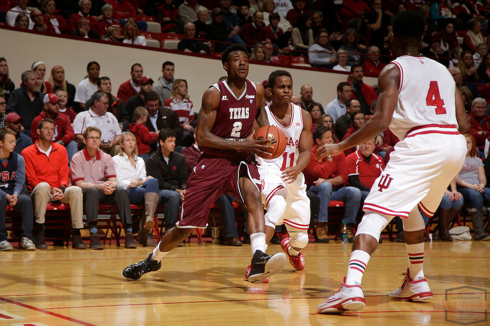 Texas Southern forward Chris Thomas (2) as Texas Southern University played Indiana in an NCCA college basketball game, Monday, Nov. 17, 2014 in Bloomington, Ind.. (AJ Mast /Photo)