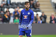 Chelsea midfielder Cesc Fabregas (4)  during warm up before the Premier League match between Hull City and Chelsea at the KCOM Stadium, Kingston upon Hull, England on 1 October 2016. Photo by Ian Lyall.