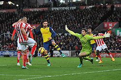 Stoke's Jonathan Walters scores a goal. - Photo mandatory by-line: Dougie Allward/JMP - Mobile: 07966 386802 - 06/12/2014 - SPORT - Football - Stoke - Britannia Stadium - Stoke City v Arsenal - Barclays Premie League