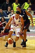 DESCRIZIONE : Milano Lega A1 2005-06 Armani Jeans Milano Lottomatica Virtus Roma <br /> GIOCATORE : Montecchia <br /> SQUADRA : Armani Jeans Milano <br /> EVENTO : Campionato Lega A1 2005-2006 <br /> GARA : Armani Jeans Milano Lottomatica Virtus Roma <br /> DATA : 21/01/2006 <br /> CATEGORIA : Palleggio <br /> SPORT : Pallacanestro <br /> AUTORE : Agenzia Ciamillo-Castoria/G.Ciamillo