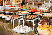 Dessert buffet with cakes and sweets