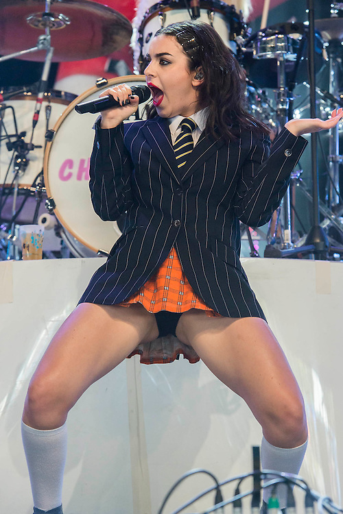 Charli XcX play the John Peel Tent. The 2015 Glastonbury Festival, Worthy Farm, Glastonbury.