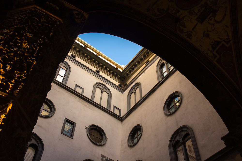 Architecture details in Florence, Italy