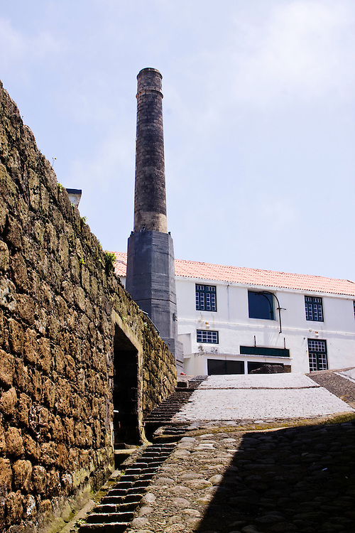 An abandoned Whaling factory that has been turned into a museum in Horta...Horta is on the Portuguese island of Faial, one of the Azores, which mark the most western boundaries of the E.U..It once was one of the centers of the worldwide whaling industry.