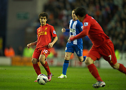 02.03.2013, DW Stadion, Wigan, ENG, Premier League, Wigan Athletic vs FC Liverpool, 28. Runde, im Bild Liverpool's Philippe Coutinho Correia with his second assist, creating the second goal for Luis Alberto Suarez Diaz against Wigan Athletic during the English Premier League 28th round match between West Wigan Athletic and Liverpool FC at the DW Stadium, Wigan, Great Britain on 2013/03/02. EXPA Pictures © 2013, PhotoCredit: EXPA/ Propagandaphoto/ David Rawcliffe..***** ATTENTION - OUT OF ENG, GBR, UK *****
