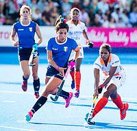 Londen - Lilima Minz (Ind)  tijdens de cross over wedstrijd India-Italie (3-0) bij het WK Hockey 2018 in Londen . In  COPYRIGHT KOEN SUYK