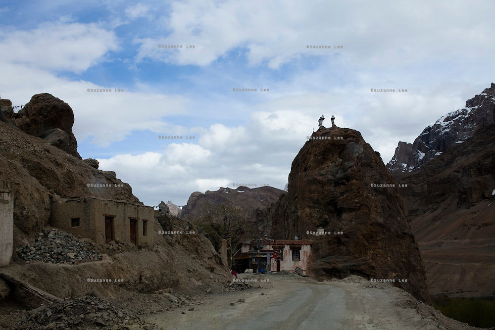 Near to the town of Mulbekh along the Srinagar-Leh Highway, a.k.a. National Highway 1D, is the famous Chamba Statue, a striking enormous figure carved into the rock face. It pictures a standing Maitreya Buddha or 'Buddha-to-come' carved in the 1st century...*Pre-season Jeep road trip from Delhi to Amritsar, Srinagar, Kargil, Lamayuru, Leh, Khardung La, Tso Moriri and back to Delhi in May 2010. Photo by Suzanne Lee