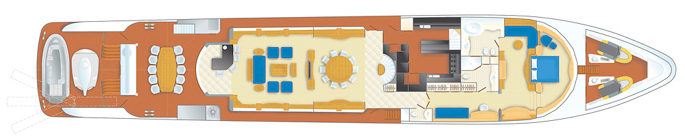 mine games yacht main deck accommodation plan