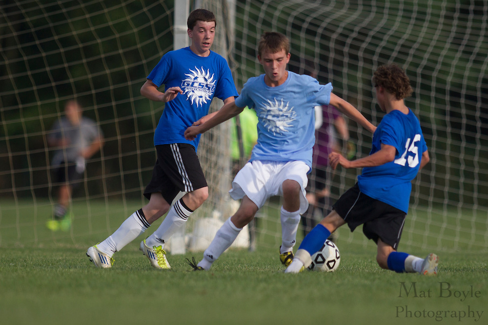Gloucester County Summer League Soccer League match between Saint Augustine Prep B and Gateway High School at New Street Park in Glassboro NJ on Wednesday July 4, 2012. (photo / Mat Boyle)