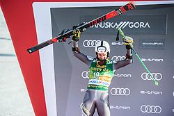 WINDINGSTAD Rasmus of Norway celebrates during trophy ceremony after the Audi FIS Alpine Ski World Cup Men's Giant Slalom 58th Vitranc Cup 2019 on March 9, 2019 in Podkoren, Kranjska Gora, Slovenia. Photo by Peter Podobnik / Sportida