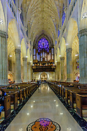 St. Patrick's Cathedral, designed by James Renwick Jr. and William Rodrigue, the largest decorated Gothic-style Catholic Cathedral in the United States, New York City, NY,