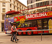 Barcelona, Spain, Double Decker Tour Bus