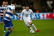 Swansea City defender Connor Roberts (23) during the EFL Sky Bet Championship match between Swansea City and Queens Park Rangers at the Liberty Stadium, Swansea, Wales on 11 February 2020.