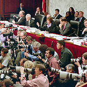 The 9/11 Commission's 9th Public Hearing, held in Washington DC. This was a special hearing to hear the testimony of National Security Adviser Condoleezza Rice.