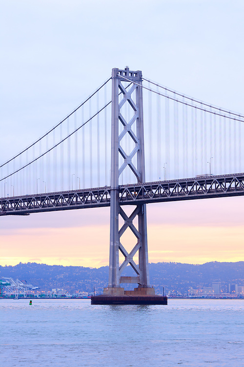 Bay Bridge and Port of Oakland in the background, California, USA