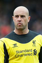 LONDON, ENGLAND - Sunday, May 12, 2013: Liverpool's goalkeeper Jose Reina before the Premiership match against Fulham at Craven Cottage. (Pic by David Rawcliffe/Propaganda)