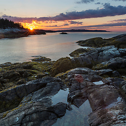 Morning in Deep Cove on Isle au Haut in Maine's Acadia National Park.