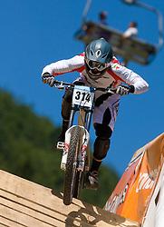 Francisco Pardal (POR) of Junior Men category at MTB Downhill European Championships, on June 14, 2009, at Kranjska Gora, Slovenia. (Photo by Vid Ponikvar / Sportida)