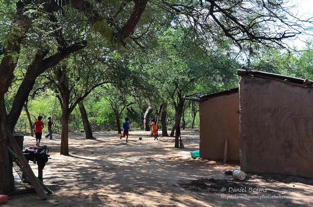 Guarani youths playing soccer