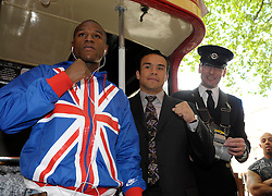 "Floyd Mayweather Jnr Juan Manuel Marquez host a ""special"" press conference at the Landmark Hotel, London, 21st May 2009 to promote their fight at the MGM GRand on July 18th 2009 which is titled Numero Uno."