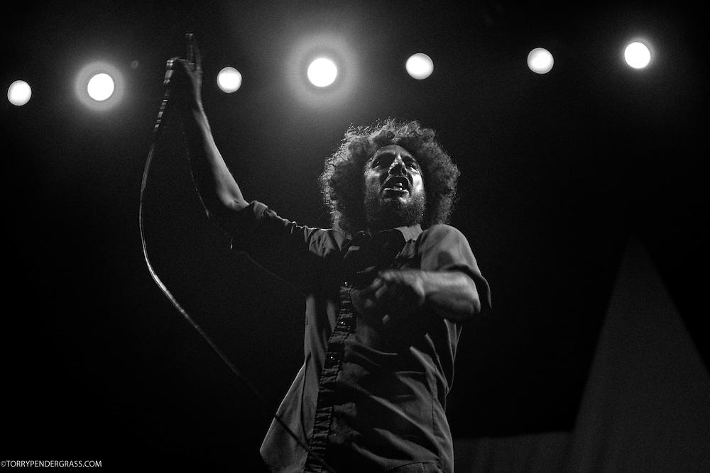 Zack de La Rocha of Rage Against the Machine performs the L.A. Rising Festival at L.A. Coliseum July 30, 2011