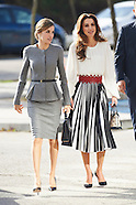 112015 Queen Letizia of Spain and Queen Rania of Jordan Visit a Molecular Biology Centre