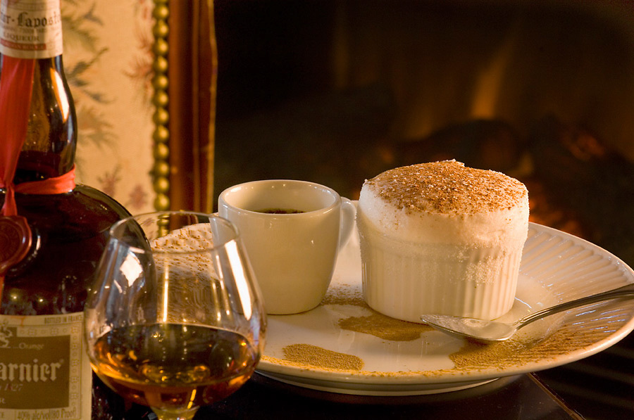 Mini Souffle with espresso and Gran Marnier