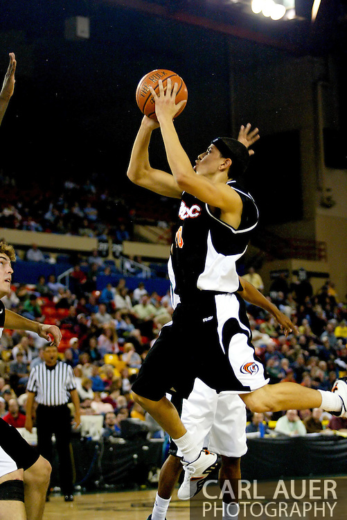 11/25/2006 - Anchorage, Alaska: Junior guard Solomon Horsechief (10) of the Pacific Tigers as Hawaii beat Pacific 71-60 to give the Warriors a third place finish in the 2006 Great Alaska Shootout<br />