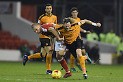 Wolverhampton Wanderers defender Richard Stearman (5) (on loan from Fulham) during the EFL Sky Bet Championship match between Nottingham Forest and Wolverhampton Wanderers at the City Ground, Nottingham, England on 17 December 2016. Photo by Jon Hobley.