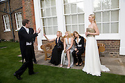 GEORDIE GREIG, IRENA VIRGANSKAYA, ANASTASIA VIRGANSKAYA, ELENA PERIMNOVA AND  JULIA DYACHENKO. Raisa Gorbachev Foundation Party, at the Stud House, Hampton Court Palace on June 7, 2008 in Richmond upon Thames, London,Event hosted by Geordie Greig and is in aid of the Raisa Gorbachev Foundation - an international fund fighting child cancer.  7 June 2008.  *** Local Caption *** -DO NOT ARCHIVE-© Copyright Photograph by Dafydd Jones. 248 Clapham Rd. London SW9 0PZ. Tel 0207 820 0771. www.dafjones.com.