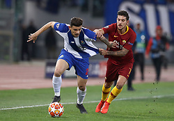 February 12, 2019 - Rome, Italy - AS Roma v FC Porto : UEFA Champions League Round of 16 .Francisco Soares of Porto and Lorenzo Pellegrini of Roma  at Olimpico Stadium in Rome, Italy on February 12, 2019. (Credit Image: © Matteo Ciambelli/NurPhoto via ZUMA Press)