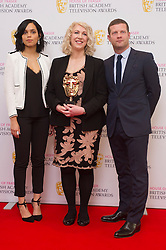 Georgina Campbell Anne Morrison and Dermot O'Leary attends House of Fraser British Academy Television Awards Nominations Announcement at the Princess Anne Theatre in London. EXPA Pictures © 2016, PhotoCredit: EXPA/ Photoshot/ Euan Cherry<br /> <br /> *****ATTENTION - for AUT, SLO, CRO, SRB, BIH, MAZ, SUI only*****