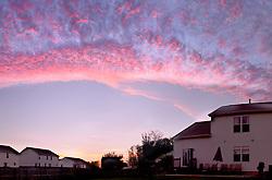 Sun sets in Pataskala, Ohio. (Christina Paolucci, photographer).