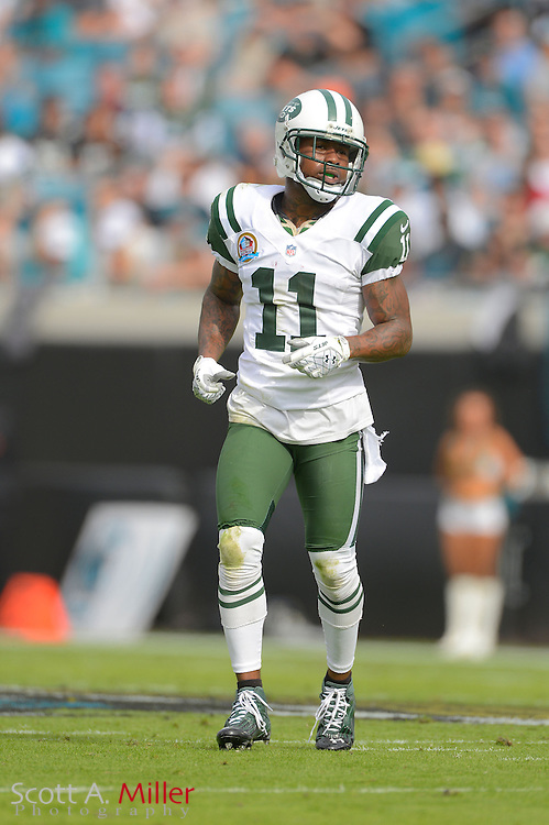 New York Jets wide receiver Jeremy Kerley (11) during an NFL game against the Jacksonville Jaguars at EverBank Field on Dec 9, 2012 in Jacksonville, Florida. The Jets won 17-10...©2012 Scott A. Miller..