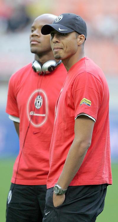David TREZEGUET / Jean Alain BOUMSONG - 14.08.2007 - Inter Milan / Juventus - Trophee TIM <br />Photo : Aldo Liverani / Icon Sport