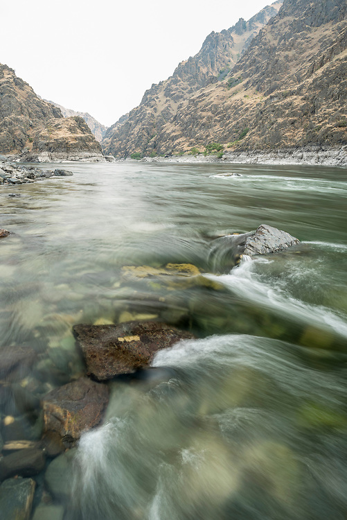 Snake River at the confluence of the Salmon River on the Oregon/Idaho border.