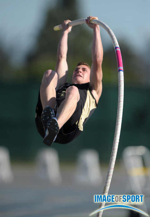 May 28, 2010; Norwalk, CA, USA; Connor Stark of Oak Park was third in the pole vault at 15-6 in the CIF Southern Section Masters Meet at Cerritos College.