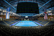 The Emirates Arena ahead of the Davis Cup Semi Final between Great Britain and Argentina at the Emirates Arena, Glasgow, United Kingdom on 16 September 2016. Photo by Craig Doyle.