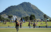 Setting for the Ford Trophy final, Northern Knights vs Wellington Firebirds, Bay Oval, Blake Park, Mount Maunganui, April 05, 2014. Photo: Kerry Marshall / photosport.co.nz