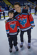 KELOWNA, CANADA - FEBRUARY 19:  James Porter #1 of the Kelowna Rockets at the CIBC Family Skate with the Kelowna Rockets on February 19, 2018 at Prospera Place in Kelowna, British Columbia, Canada.  (Photo By Cindy Rogers/Nyasa Photography,  *** Local Caption ***