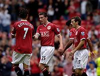 Photo: Jed Wee.<br />Manchester United v Seville. Pre Season Friendly. 12/08/2006.<br /><br />Manchester United's Cristiano Ronaldo (L) congratulates scorer David Jones (C).